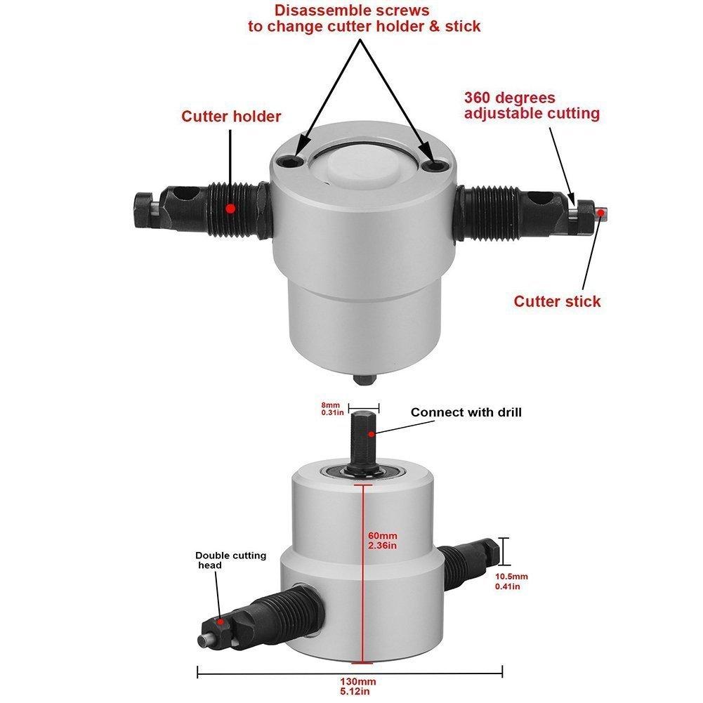 Hilda Sheet Metal Nibbler Cutter Drill Attachment Hilda